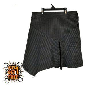 Zoey Beth Pink Pinstripe Asymmetrical Skirt